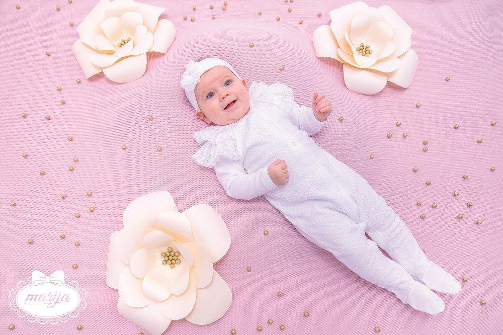 d79dc2c8 02B7D Lilly White Pajac niemowlęcy Marija - biały biały | dla ...
