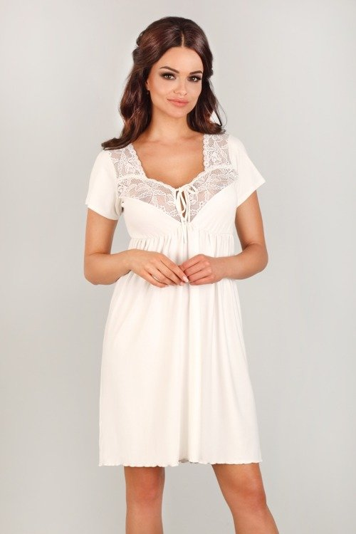 fd01fc4b36524b 3012 Koszula Nocna ciążowa i do karmienia Lupoline ecru | dla mamy ...